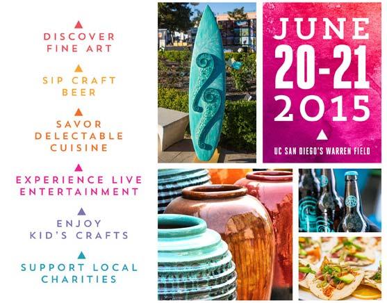 La Jolla Festival of Arts has many Vendors